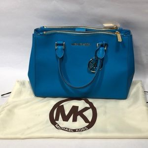 Michael Kors MK Large Sutton Teal Bag